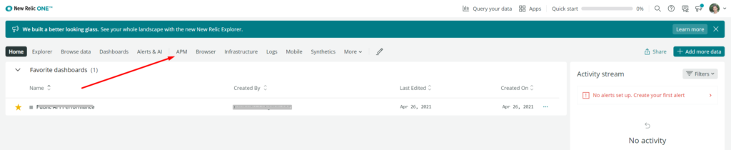 Setup configuration your server in New Relic APM