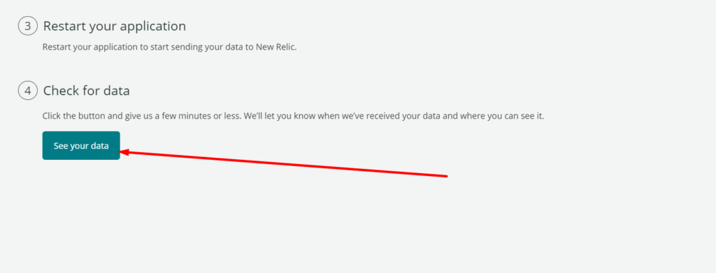 see your new relic data