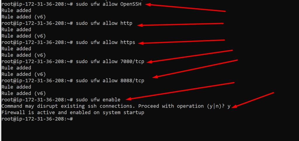 Configer Firewall
