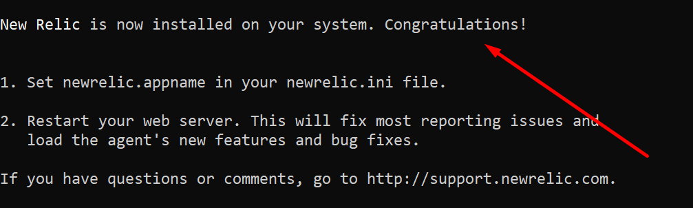 new relic commands